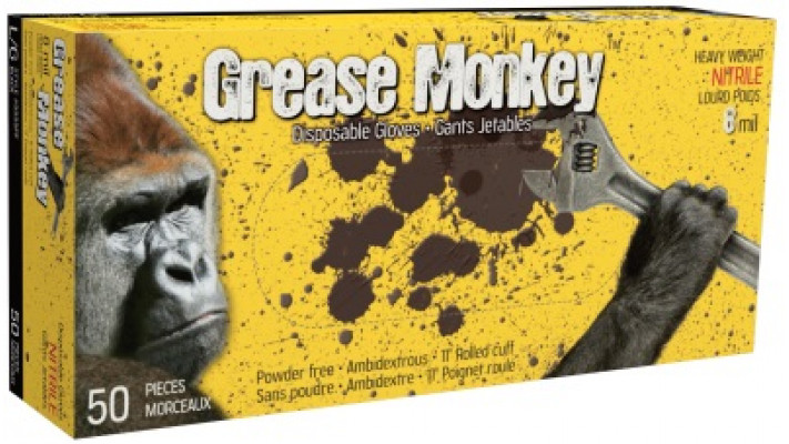 Gants jetables GREASE MONKEY 8mil.