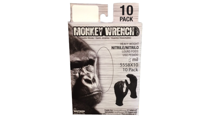 Gants jetables Monkey Wrench 8mil