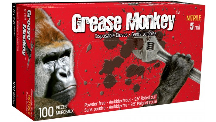 Gants jetables GREASE MONKEY 5mil.