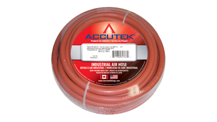 Boyau à air Accutek EPDM 3/8 rouge x 25'